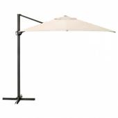 СЕГЛАРО Зонт от солнца, подвесной, наклонный, бежевый, 330x240 см