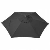 ЛИНДЭЙА Купол зонта от солнца, черный, 300 см