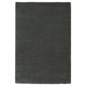 ОДУМ Ковер, длинный ворс, темно-серый, 133x195 см