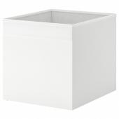 ДРЁНА Коробка, белый, 33x38x33 см