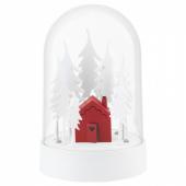 СТРОЛА Светодиодное настольное украшение, домик в лесу красный, белый
