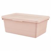 СОККЕРБИТ Контейнер с крышкой, розовый, 38x25x15 см