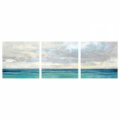 ПЬЕТТЕРИД Картина, 3 шт, Океан и небо, 56x56 см