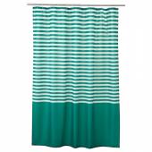 ВАДШЁН Штора для ванной, темно-зеленый, 180x200 см