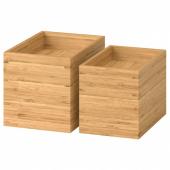 ДРАГАН Набор для ванной, 4 предмета, бамбук