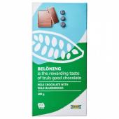 BELÖNING Молочный шоколад, черника Сертификат UTZ, 100 гр