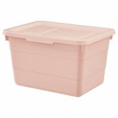СОККЕРБИТ Контейнер с крышкой, розовый, 19x26x15 см