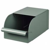 РЕЙСА Контейнер, серо-зеленый, металлический, 9x17x7.5 см