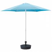 ХЁГЁН Зонт от солнца с опорой, голубой, Гритэ темно-серый, 270 см