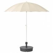САМСО Зонт от солнца с опорой, бежевый, Гритэ темно-серый, 200 см