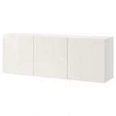 БЕСТО Комбинация настенных шкафов, белый, Сельсвикен глянцевый/белый, 180x42x64 см